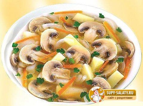 Суп из шампиньонов
