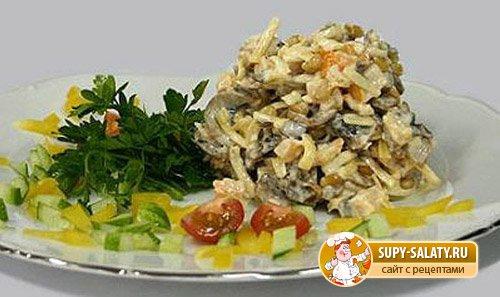 Салат из курицы рецепт очень вкусный простой 4
