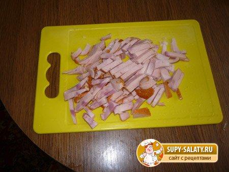 Салат с ананасами и грибами. Фоторецепт