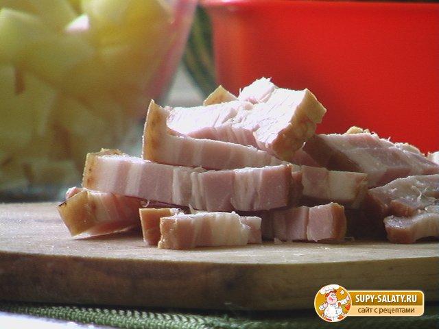 Рецепты с фото Гороховый суп на бульоне