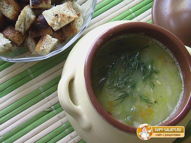 Рецепты с фото. Гороховый суп на бульоне