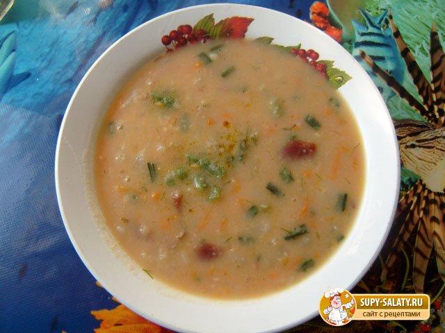 Суп с копчеными ребрышками рецепт с фото