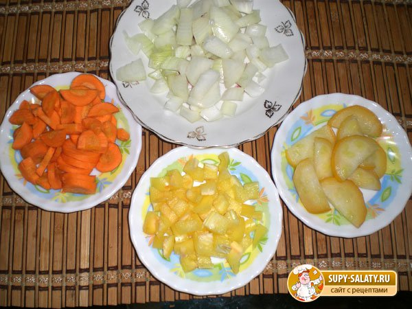 Рис, жареный с овощами
