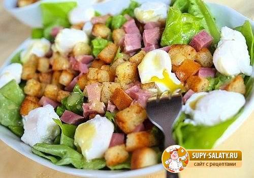 Салат из яиц пашот