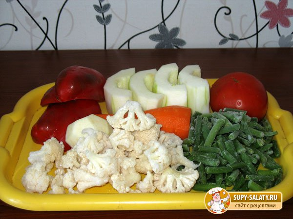 Тушеные овощи, Рецепт с фото