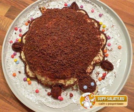 Торт черепаха со сметаной и маслом