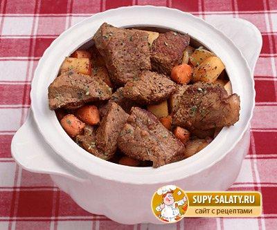 Блюда в горшочках с мясом