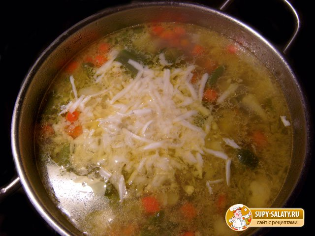 Овощной суп с сыром. Рецепт с фото