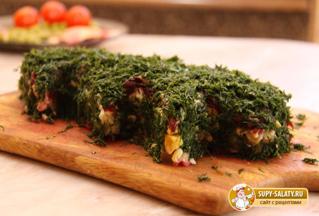 Новогодний салат - Елочка