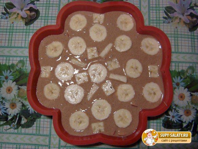 Пирог с фруктами и корицей. Рецепт