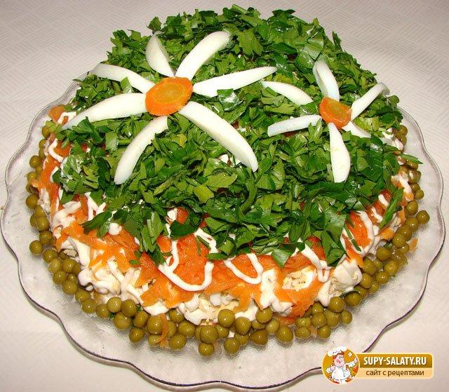 салат полянка с фото