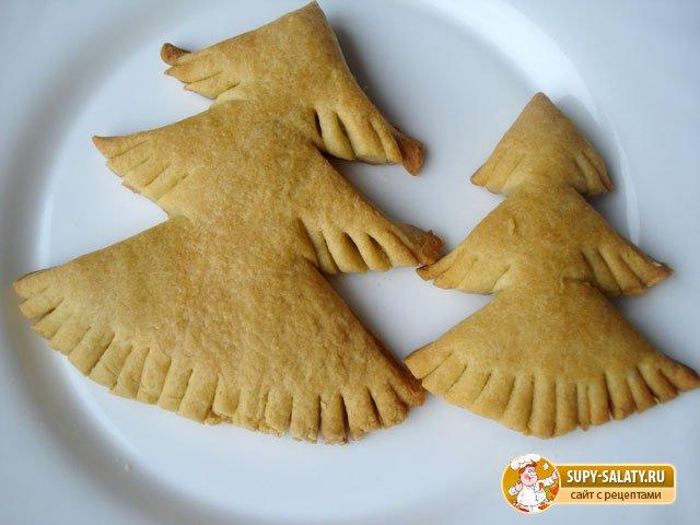 Печенье на Новый год. Пушистая елочка