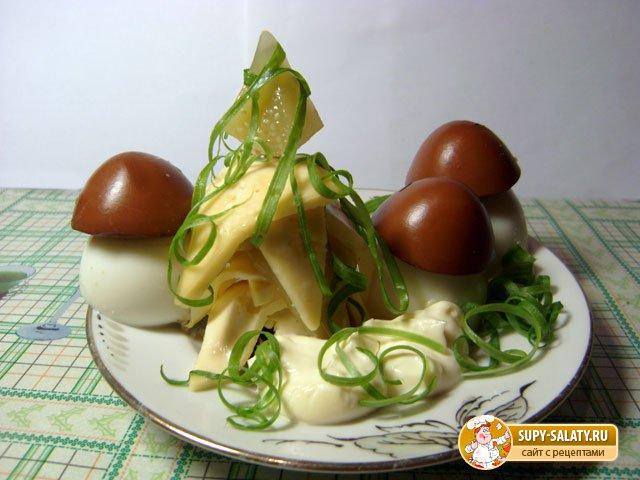 Фаршированные яйца. Грибочки