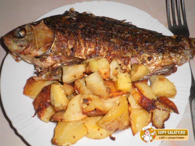 Рыба с картошкой в духовке рецепты с фото пошагово в фольге