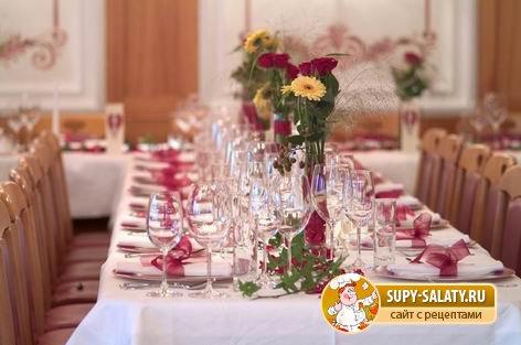 Как приготовить свадебный стол своими руками