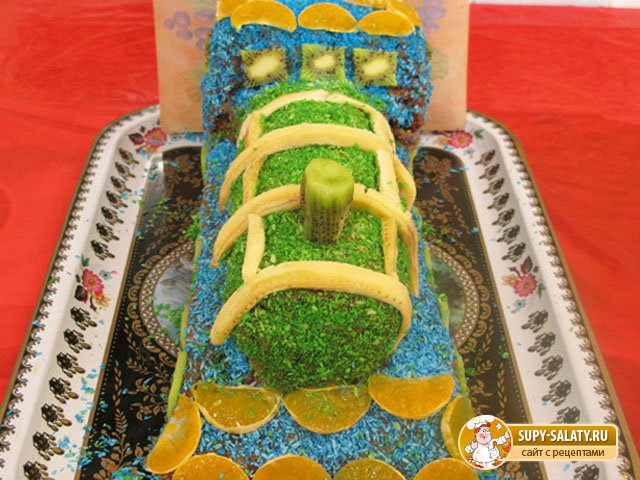 Торт Паровоз рецепт с фото пошагово