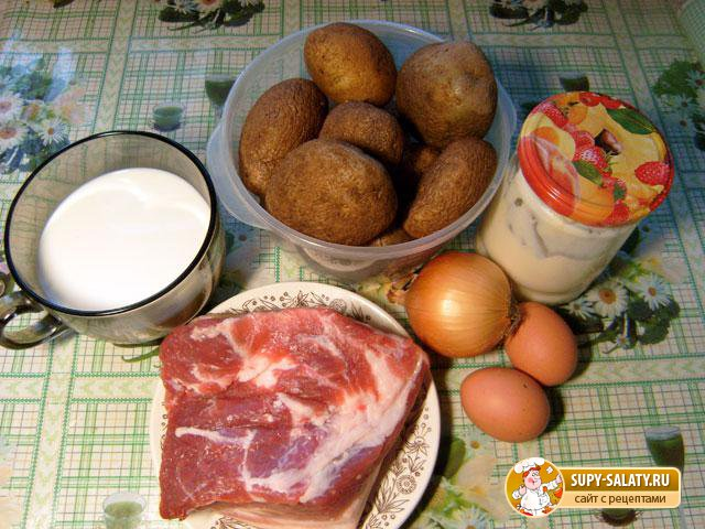 Картофель, запеченный с грудинкой. Рецепт с пошаговыми фото