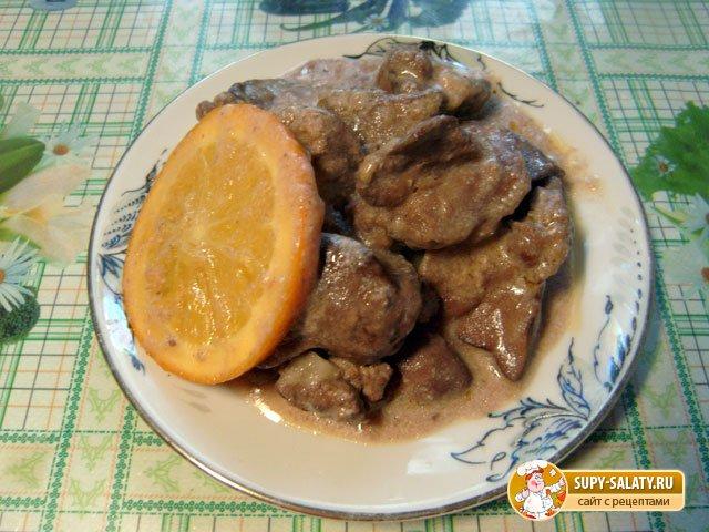 готовая печень с апельсинами 9
