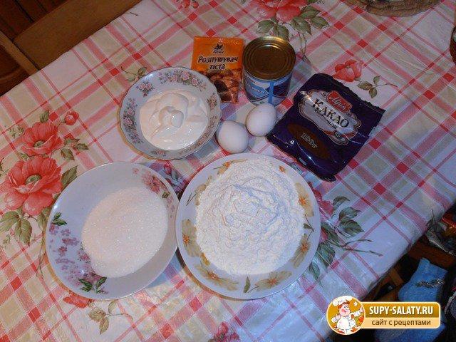 продукты для приготовления теста торта