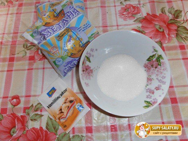 продукты для приготовления крема торта