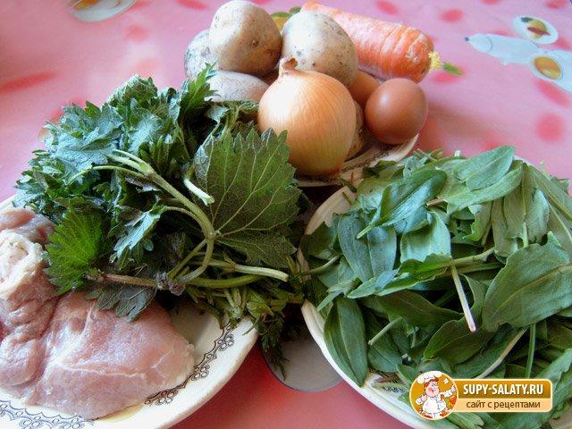 Зеленые щи с крапивой и щавелем. Рецепт с фото