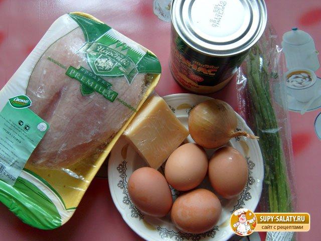салат ананас рецепт с фото с курицей с грецкими орехами и яблоком