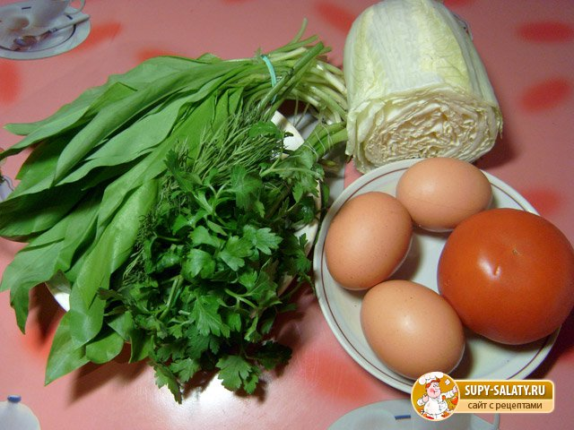 Салат из черемши. Рецепт с фото
