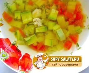рецепт овощного супа при язве