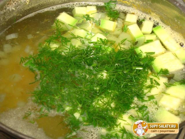 Овощной суп с кабачками. Рецепт с фото
