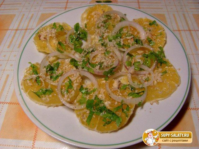 Марокканский апельсиновый салат