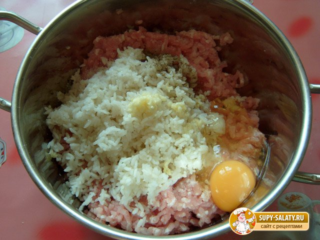 Мясные ежики с рисом рецепт с фото