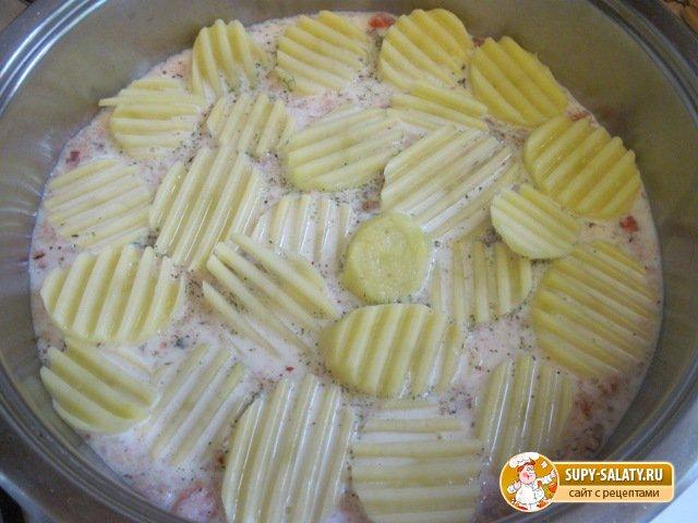 Картофеля под сыром. Рецепт с фото