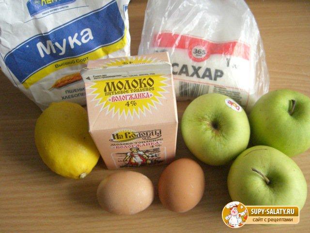 Блинчики на топленом молоке с яблочно-лимонной начинкой