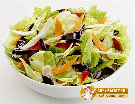 овощные салаты с маслом