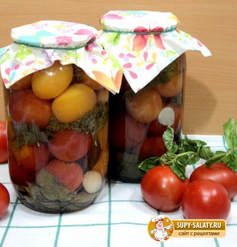 Маринованные помидоры на зиму. Рецепт с пошаговыми фото
