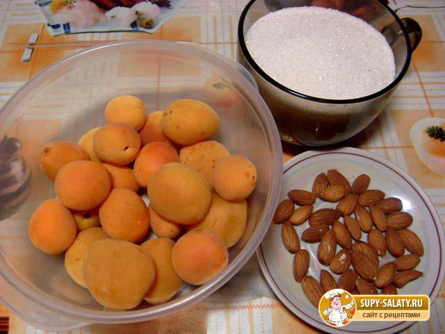 Варенье из абрикосов с миндалем. Рецепт с пошаговыми фото