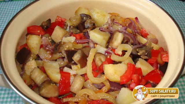 Баклажаны рагу рецепт с пошагово