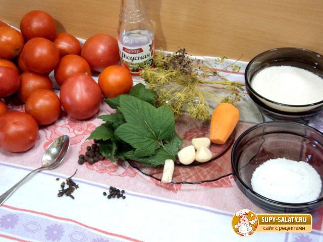 Маринованные помидоры на зиму По-простому Рецепт с пошаговыми фото