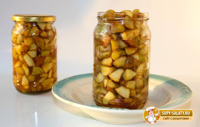 Заготовка из яблок для пирогов. Рецепт с пошаговыми фото