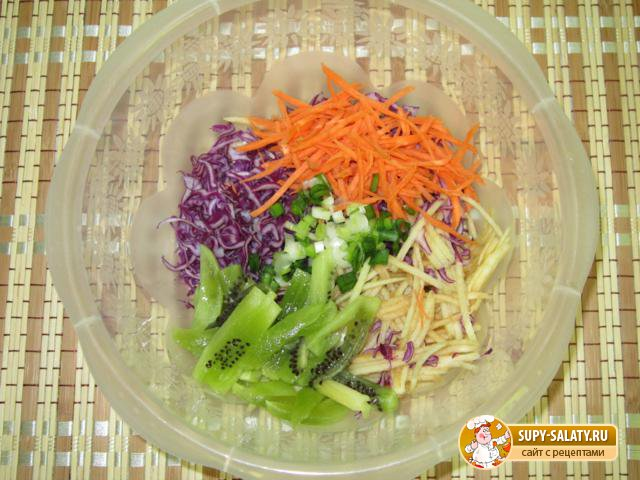 Овощной салат «Радость». Рецепт с фото