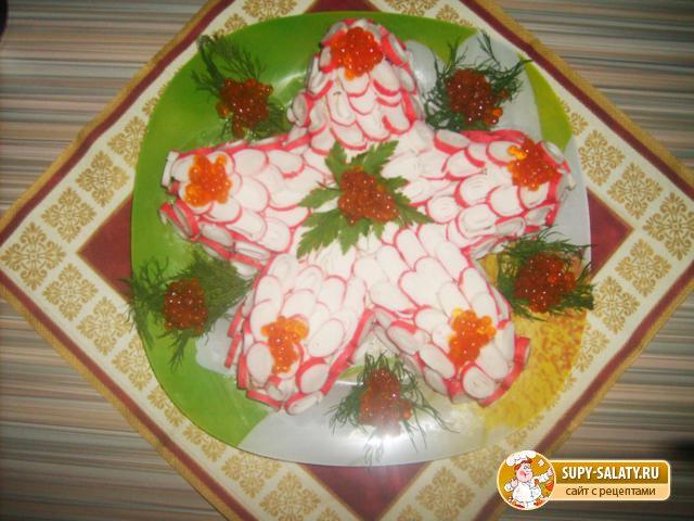 Салат из морепродуктов «Звезда»