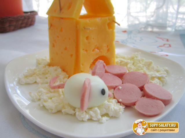 Сырный домик на снегу. Рецепт с фото