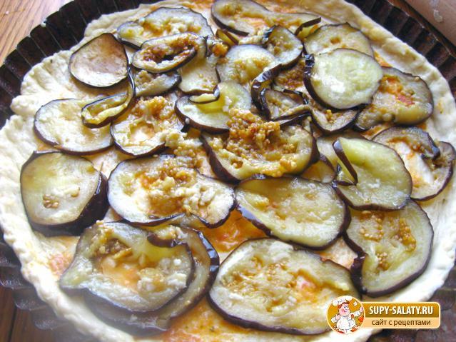 Пицца на кефире с баклажанами