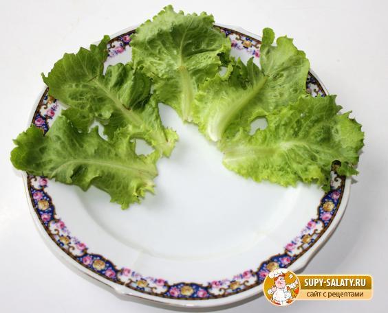 Фото салата с листя салата