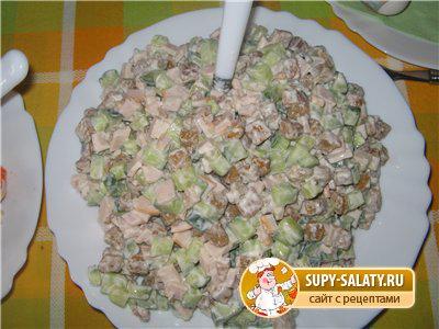Смотреть рецепты салатов с курицей фото