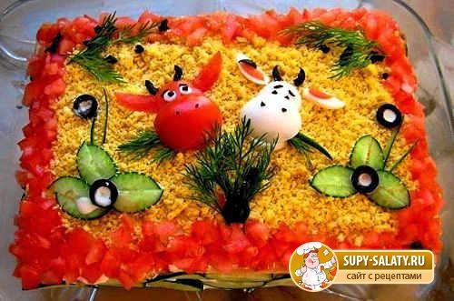 Украшение салата своими руками с фото пошаговое