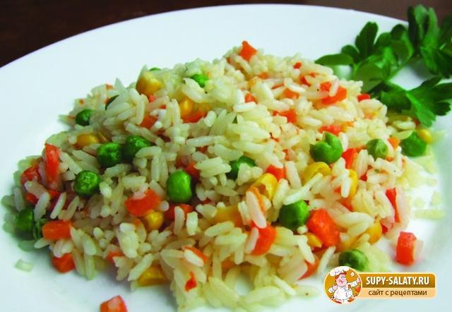 Ризи-бизи – гарнир из риса с зеленым горошком. Рецепт