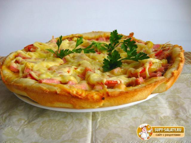Пицца с грибами опятами рецепт с фото