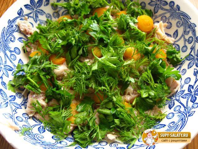 Заливное с курицей и овощами. Рецепт с фото