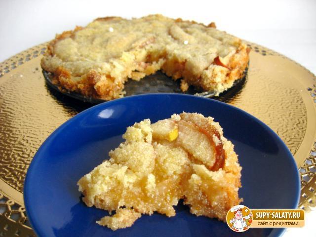Яблочный пирог из манки. Рецепт с фото